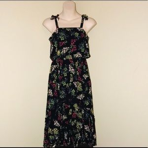 Ella Moss beautiful black floral high low dress